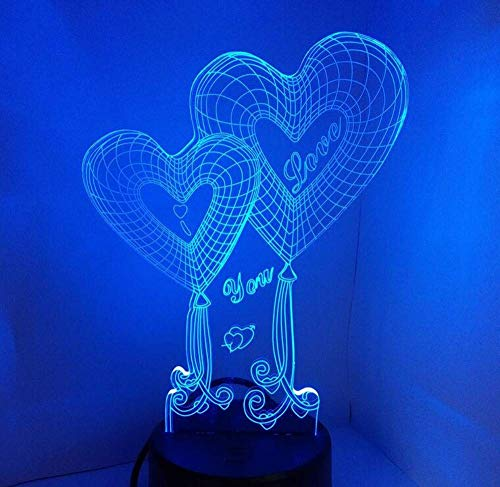 Lampade a Soffitto Lampade a Sospensione Lampadari a Sospensione Retro Licht3D Illusion Lampada Night Light, 7 Colori Che Cambiano Touch Switch Moto Table Desk Lampade Decorazione [Classe Energetica