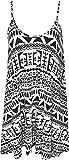 Plus Size Womens Printed Strappy Sleeveless Ladies Mini Dress Vest Top - Big Aztec - 16-18