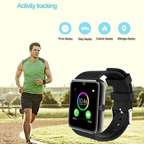 YAMAY Bluetooth Smartwatch Fitness Uhr Intelligente Armbanduhr Fitness Tracker Smart Watch Sport Uhr mit Kamera Schrittzähler Schlaftracker Romte Capture Kompatibel mit Android Smartphone - 2