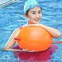 Eizur Adulti Bambini Gonfiabile Nuoto Galleggiante PVC Doppi Sicuro Airbag Impermeabile Boa in Acque Libere Visibile per la formazione sicura Rafting Nuotator Racing - Arancione