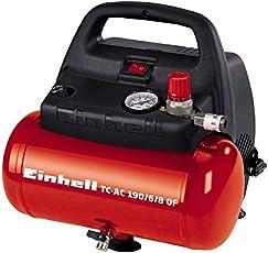 Einhell Kompressor TC-AC 190/6/8 OF (1100 W, 6 L, Ansaugleistung 185 l/min, 8 bar, ölfrei, ergonomische Bauform, Standfüße)