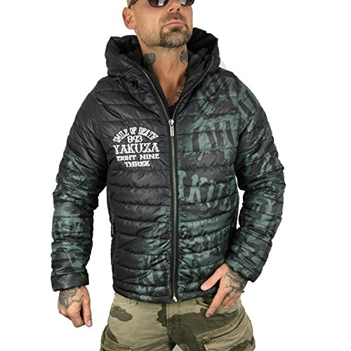 Yakuza Uomo Giacche / Giacca invernale Allover Label Quilted Nero