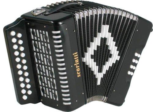 Scarlatti Akkordeon 2 Reihen D-G Schwarz