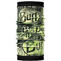 Buff Reversible Polar Braga de Cuello, Hombre, Verde (Log us) / Negro, Talla Única