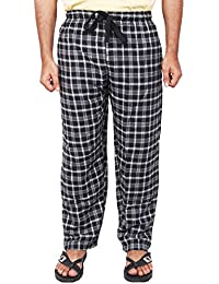 Twist Men's Black And Cream Checked Cotton Pyjama Sleepwear Night Wear With Contrast & Free Shipping