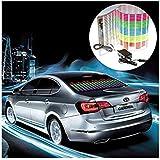 EHAO 90x25cm Auto Pegatinas Equalizador Auto Música Beat ritmo activado LED luces de luces Sensor de sonido sensor Sensor etiqueta Colorido LED Flash luz con coche Cargador de cigarrillos Universal Decoración