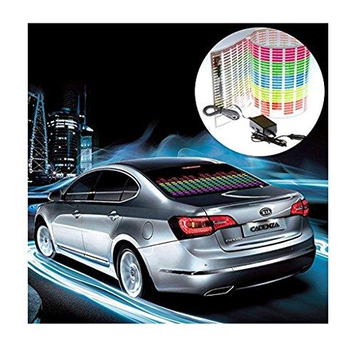 Ehao 90x25cm Adesivi auto equalizzatore automatico beat Ritmo attivato LED