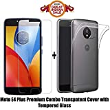 #9: MOTO E4 PLUS Back Cover / E4 PLUS Back cover Like It Grab It (COMBO OFFER ) for ( MOTO E4 PLUS / E4 PLUS) - Ultra Thin Clear Transparent Flexible Soft TPU Slim Back Case Cover + Premium Full Screen 2.5D 9H Hardness Tempered Glass screen protector (TPU-Transparent)