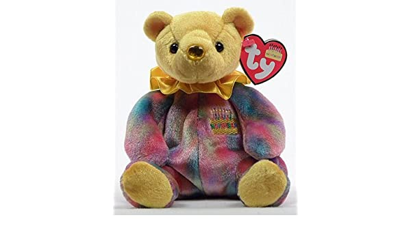 Buy Ty Beanie Babies Happy Birthday Bear November Retired No Hat  Toy   Online at Low Prices in India - Amazon.in aa66432437d0