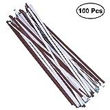 OUNONA 100 Stück selbstklebende Schleifpapier langlebige Schleifstreifen für DIY Handwerk