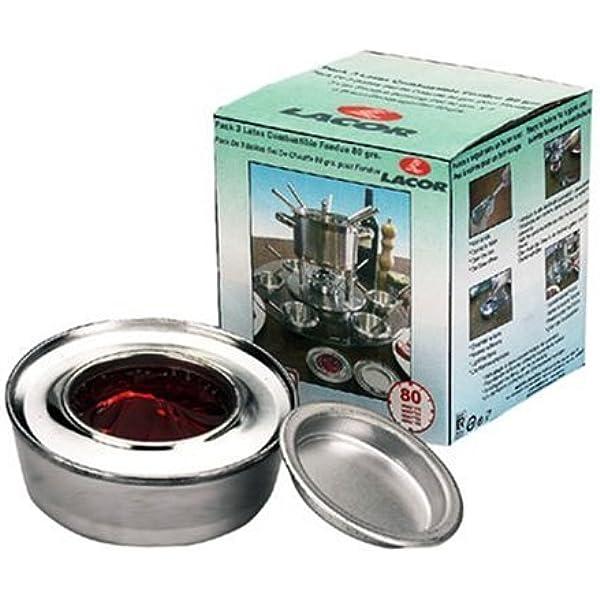 LACOR 71780 - Pack 3 latas Combustible Fondue 80 grs: Amazon ...