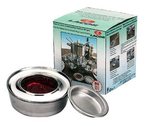 Lacor 71780 - Pack 3 latas Combustible Fondue 80 grs