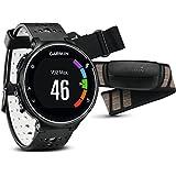 Garmin Forerunner 230 - Pack con reloj de carrera y pulsómetro premium, unisex, color negro y blanco, talla regular