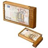 Geschenke 24: Magische Geldgeschenke Box mit Gravur - Wunschtext - graviertes Geldgeschenk - Denkspiel, Knobelspiel, lustige Verpackung für Geld