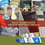 Metallkleber Kaltschweißmasse Haftstahl Flüssigmetall Flüssig Metall Metallkleber Flüssigmetall für Metalle, hitzebeständig bis 150 ° C Cold Weld Metal Repair Paste,Heat Resistance,