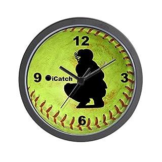 CafePress–Fastpitch Softball Icatch–Unique décoratifs 25,4cm Horloge Murale