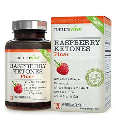 Himbeerketon, Raspberry Ketone Plus+, Antioxidant Dual Action Formel, 2 -4 Monate Vorrat, 120 Kapseln