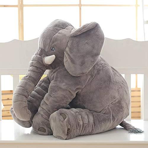 HDWY Elefant Plüschtier, Kinder schlafen Pad zurück Plüsch Kissen Elefant Puppe Baby Puppe Kinder Geburtstagsgeschenk, 60cm,Gray