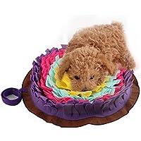 Generp Para perros entrenamiento manta Perro Ronda Pet Sniffing Pad Lavable Entrenamiento Manta Alimento Estera Piecing Multicolor