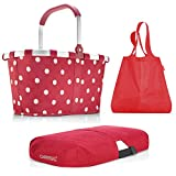 Reisenthel Exklusiv-3er-Set: carrybag Plus Cover Plus Mini Maxi Shopper (Ruby dots - red - red)