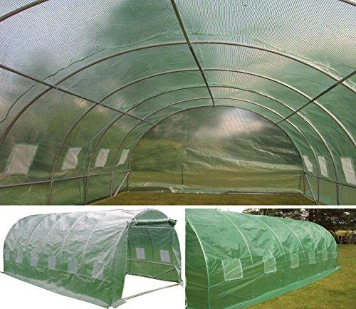 6m x 3m Folientunnel Abdeckung Folientunnel Mini-Folientunnel Glasschutz Gewächshaus Polytunnel Pollytunnel Nur Abdeckung.