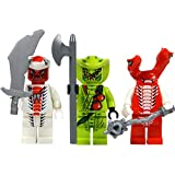 LEGO Ninjago: Minifigur Snappa, Lasha und Fangdam (Schlangenarmee 1) mit Waffen