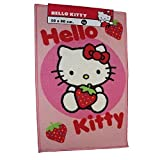 HELLO KITTY STRAWBERRY KREIS SPOT, SCHLAFZIMMER, FUSSMATTE, TEPPICH, 50 X 80 CM
