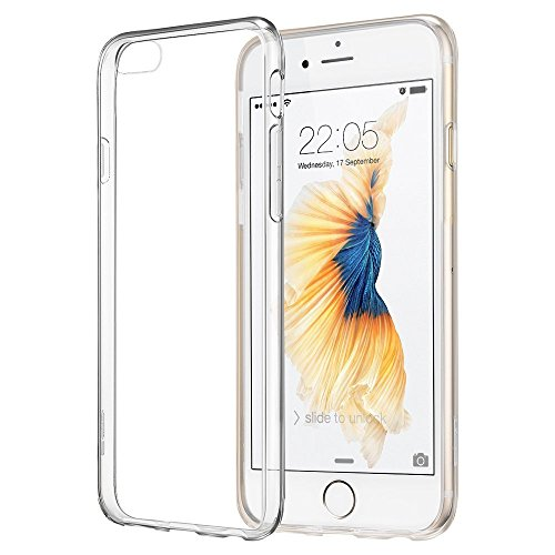vanki® iPhone 6/6s hülle Tasten 3D Schutzhülle Clear Case Cover Bumper TPU Silikon Handyhülle für iPhone 6/6s (4,7 Zoll) (Mustache) Mustache