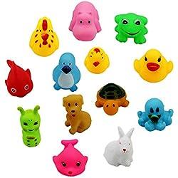 13 Piezas Juguetes De Baño Bebe Patrón Animal Juguetes Para Niñas Juguetes Niños Para Bañera