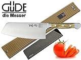 Güde Alpha Olive Messer Kochmesser Santoku Brotmesser Schälmesser Schinkenmesser Chai Dao ohne/mit Gravur + Prymo Farbe 1 Messer OHNE Gravur, Größe Chai Dao 16cm