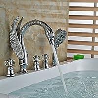 Gowe vasca rubinetto miscelatore in in in ottone cromato bagno cristallo maniglie W spruzzatore | Economici Per  | Ottima qualità  | Negozio online di vendita  238bab