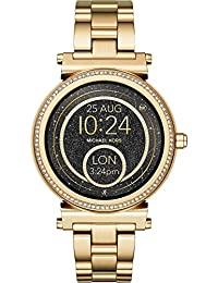 Michael Kors Damen-Smartwatch Analog/digital Quarz One Size, gold