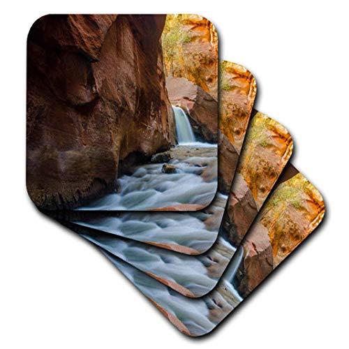 3dRose Danita Delimont-Wasserfälle-kanarra Creek Wasserfall, North von Kolob Canyon, Utah, BLM Land-Untersetzer, Keramik, set-of-4-Ceramic - Canyon Keramik