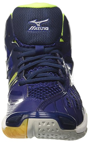 Mizuno Wave Tornado Mid, Chaussures De Volleyball Multicolores Pour Hommes (blanc / Blanc / Jaunejaune)