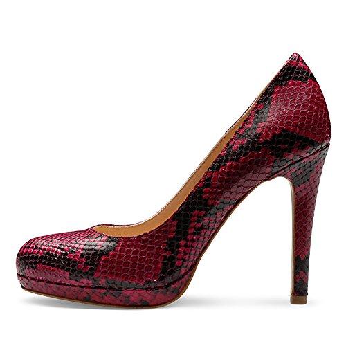CRISTINA Damen Pumps Pythonprägung Pink
