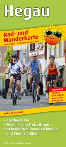 Rad- und Wanderkarte Hegau: Mit Ausflugszielen, Einkehr- & Freizeittipps, Nebenkarten Donaueschingen und Stein am Rhein, wetterfest, reißfest, abwischbar, GPS-genau. 1:50000