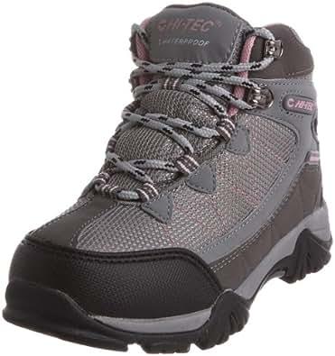 Hi-Tec Junior Kids' Tokyo Hiking Boots - Grey/ Pink, 2 UK