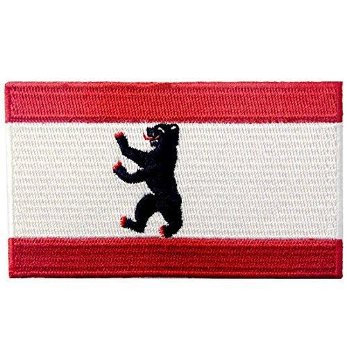 City Breite Kostüm - Berlin City Flagge Patch bestickte Applikation Eisen auf Sew auf Emblem