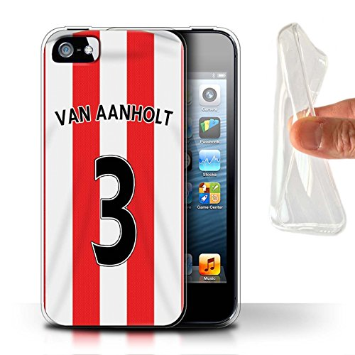 Offiziell Sunderland AFC Hülle / Gel TPU Case für Apple iPhone SE / Kaboul Muster / SAFC Trikot Home 15/16 Kollektion Van Aanholt