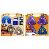 CMT Omm-X37 Set Composto da 37 Utensili per Macchine Multifunzione, Attacco Universale, Blu/Grigio, 0
