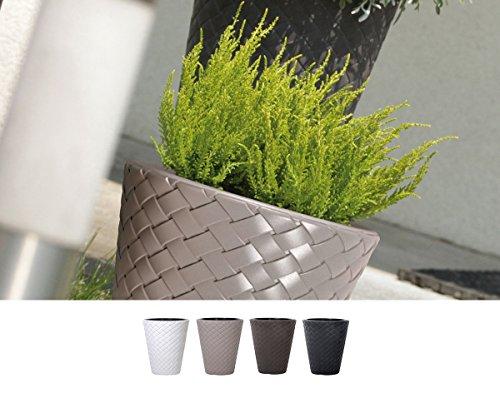 Pot de fleurs moderne en rotin avec inserts amovibles balcon terrasse