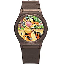 """Disney Winnie the Pooh's """"Tigger"""" on a Boys or Girls Brown Plastic Watch Band"""