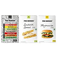 Fric Bergen Sandwich Spread, Mayonnaise and Assorted Pack (Pack of 3)