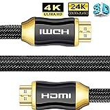 Bollaer 4 K Ultra HD cavo HDMI, ad alta velocità HDMI 2.0 a/b cavo, interfaccia multimediale ad alta definizione, compatibile con 4 K Ultra HD 2160p, Full HD 1080p, supporto per TV/PC/PS4/Xbox 1M