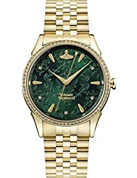 Vivienne Westwood Wallace Green Dial Gold Damenuhr VV208GDGD
