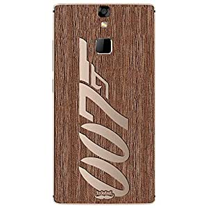 Inkdad Unique Number Art cut-out on Pure Laural Wood Skin Case Cover For Micromax Canvas 6 E485