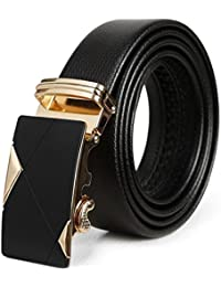 YAOXDAI Cinturón de Cuero de trinquete Cinturón para Hombres Cinturón de  Clic Ajustable con Hebilla Deslizante 76f7b829f590
