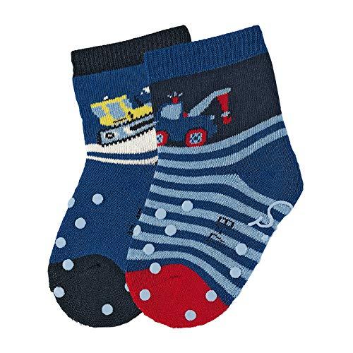 Sterntaler Baby - Jungen Socken Abs-krabbelsöckchen Dp Schnees, 2er pack, Blau (Marine), 22 -