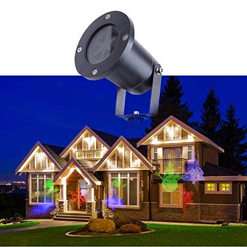 Luce del proiettore di Natale impermeabile esterna di paesaggio Garden Courtyard lampada della fase della decorazione LED