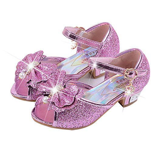 High Heel Schuhe Kinder Party Pumps 28 EU/Etikette 30 rosa(offener zeh) ()